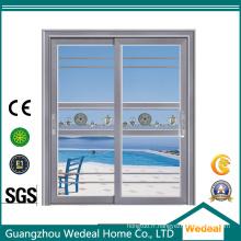 Porte coulissante en verre d'aluminium d'hôtel / pièce machinée