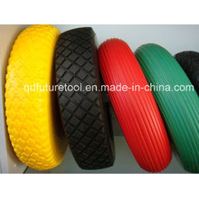 After-Sale Protection Cheap 400-8 Spoke Style Wheel Barrow PU Foam Wheel for Seal Saudi Arabia Market
