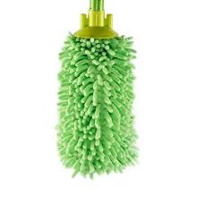 Precio de fábrica de Microfibra Redonda Verde Hogar Limpiador de Piso Mopa Redonda
