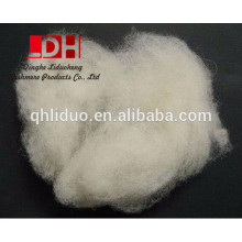 Manufacturer dehaired and carded natural white lambs wool fibre 16.5mic/34-36mm