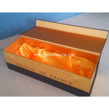 New Design Elegant Vodka Packaging Gift Paper Box with Satin and Magnet