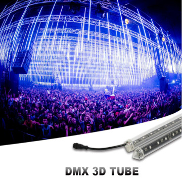 DMX conduziu a luz vertical do disco do tubo 3D