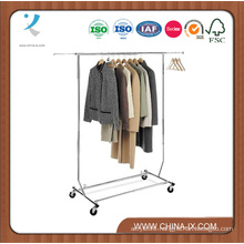 Collapsible Single Rail Salesman Rolling Rack for Store
