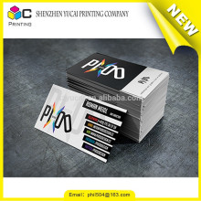 Verniz de papel tipográfico de cartão de visita design amostras