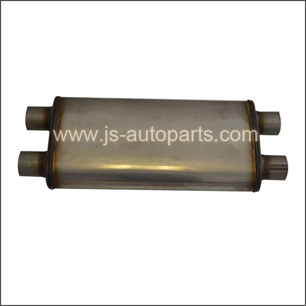 OVAL MUFFLER DUAL INLET DUAL OUTLET