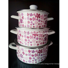 stainless steel copper bottom enamel cookware