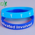 3D Light Bule Printing Wristband Embossed Elastic Band