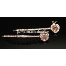 Shiny Crystal Barrette strass Bobby broche