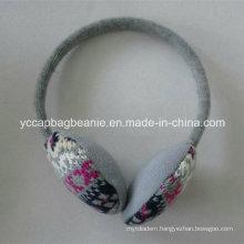 High Quality Jacquard Pattern Knitted Earmuff