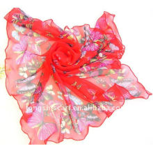 print square butterfly scarf