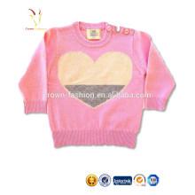 El suéter de la cachemira de las muchachas de los bebés de encargo diseña el