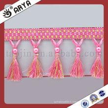 Ensemble de rideaux de polyester en bonnet Collant en caoutchouc pour rideau