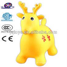 Inflável cervos animais pulando cavalo brinquedo