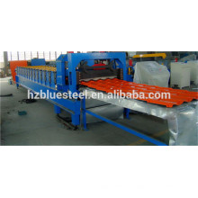 Step Roof Glazed Tile Roll Forming Machine / Glazed Roofing Tile Making Machine