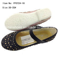 Детская обувь девушки танцевальная обувь принцесса обувь туфли (FF0724-16)