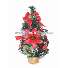 2016 mini mesa artificial Carrinho de árvore de Natal