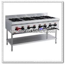 K218 com queimador de fogão a gás de 8 queimadores