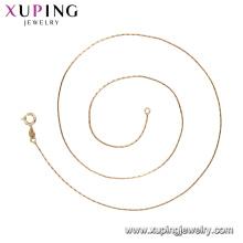 44266 xuping padrão leve peso leve 18k ouro cheio de cadeias de jóias de moda atacado China