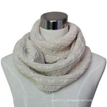 Frauen Mode Acryl gestrickt Unendlichkeit Winter Schal (YKY4372)