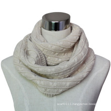 Women Fashion Acrylic Knitted Infinity Winter Scarf (YKY4372)