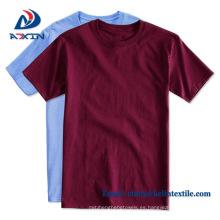 Logotipo personalizado mujeres de manga corta cuello O camiseta de algodón
