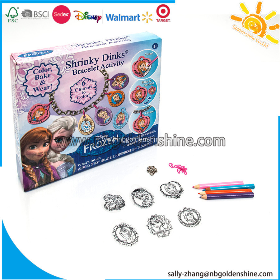 Frozen Shrinky Dinks Bracelet Activity