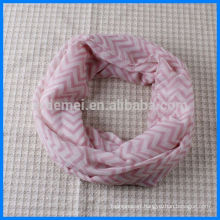 Lady polyester wholesale chevron infinity scarf
