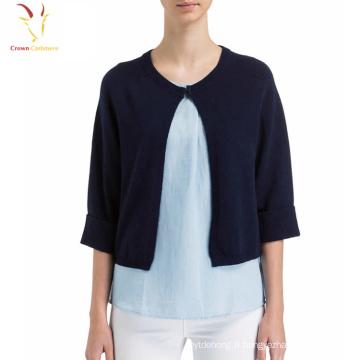 Femmes Fashion Design Bracelet col tricoté Cachemire Cardigan Sweater