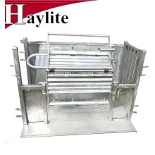 Steel sheep turnover crate catcher used for handling equipment
