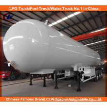 60, 000L ASME LPG Bullet Tank Semi Trailer 30tons