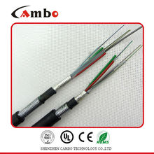 Factory price for telecom projects steel tape double armoured multi pairs SM/MM fibre optic cable speed