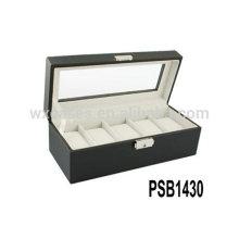 caja de reloj de cuero de lujo para hombres con 5 relojes fabricante