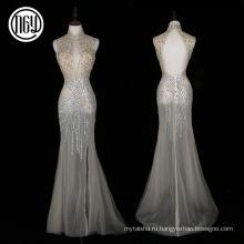 Поставщик фабрики изготовленный на заказ китайский стиль пола спинки формальное платье