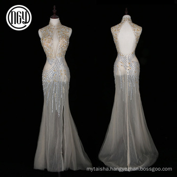 Factory supplier custom chinese style sex backless formal dress