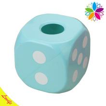 Dice Design Caixa de plástico criativa de tecido para o lar (ZJH008)