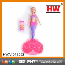 Girl Doll Bubble Machine Toys Mermaid Bubble Toy