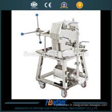 Série WBG Filtre à cadre en acier inoxydable avec pompe électrique