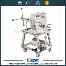 WBG series Stainless steel beer plate frame filter with electric pump