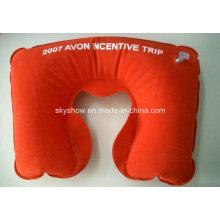 Надувная подушка для шеи с большой печатью