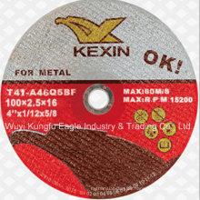 Alta calidad 105 * 3 * 22.2mm rueda de corte para metal