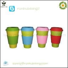 2014 nouvelle tasse de café décorative en fibre de bambou