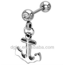 Stainless steel anchor Cartilage Earrings piercing stud