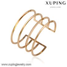 51621- Xuping modèle le plus récent manchette bracelets femmes dernières conceptions