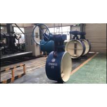 aço carbono wcb dn1200 solda válvula de borboleta bidirecional selo duro