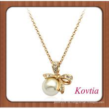 Neueste Design knotbow Perlenkette für Damen Partykleid
