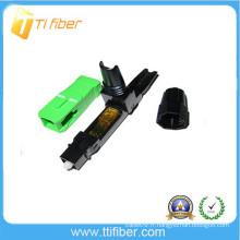 Connecteur de fibre de qualité enfichable SC / APC