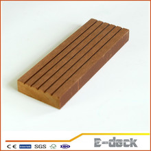 Reciclado Anti-UV escovado superfície WPC sólido decking faux vinil piso