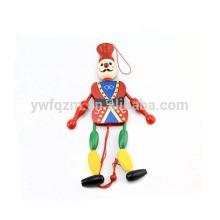 clown en bois tirer jouet