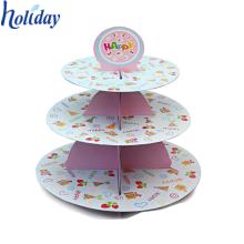 Cupcake Holder Display Buena calidad Cartón Cake Stand