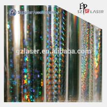 Pet holographic transfer film for 157g art paper
